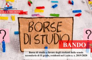 Gaeta / E' online il Bando Borsa di studio a favore degli studenti residenti nel Lazio a. s. 2019/2020