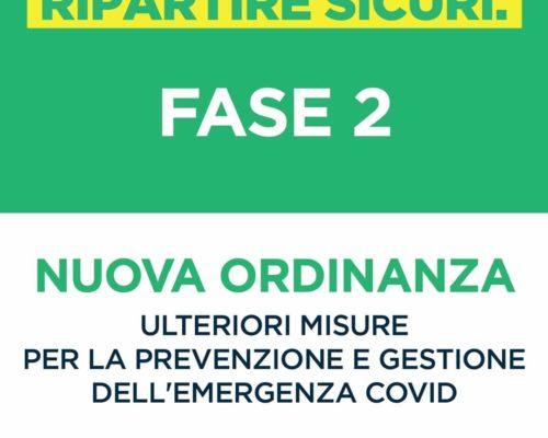 ORDINANZA: ULTERIORI MISURE PER LA PREVENZIONE E GESTIONE DELL'EMERGENZA COVID