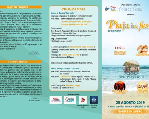 """""""Piaja in festa"""": tutto pronto per la sesta edizione promossa da """"Golfo Eventi"""""""