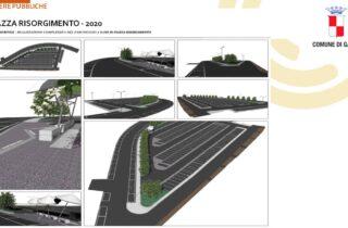 Area di sosta e parcheggio pubblico Piazza Risorgimento. 650.000 € di investimenti comunali per la realizzazione parcheggio pubblico.