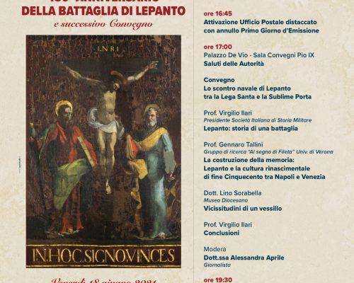 """Cerimonia di presentazione del francobollo celebrativo """"450° anniversario della Battaglia di Lepanto"""""""